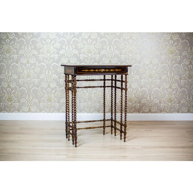 Early 19th Century French Intarsiated Table from the 19th Century For Sale - Image 5 of 13