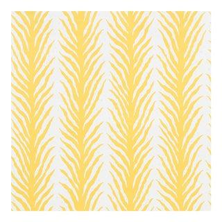 Schumacher X Celerie Kemble Creeping FernWallpaper in Lemonade For Sale