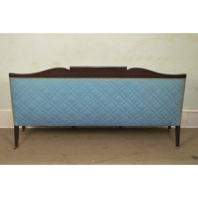 Federal Style Antique American Custom Mahogany Frame Sofa For Sale - Image 12 of 13