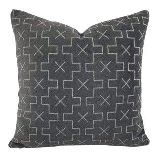 Perennials Concho Gray Matter Velvet Pillow Cover For Sale
