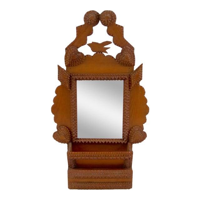 Antique Tramp Art Frame With Drawer   Chairish