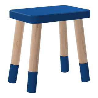 Tippy Toe Kids Chair in Maple and Pacific Blue Finish For Sale