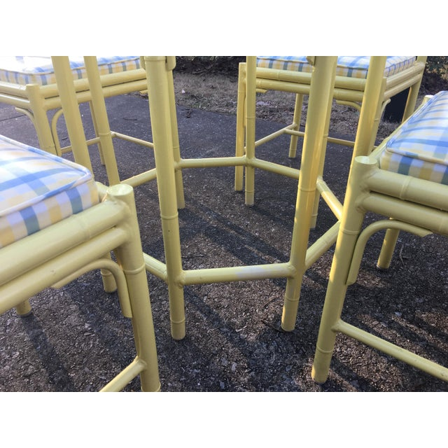 Faux Bamboo 1970s Chippendale Meadowcraft Faux Bamboo Dining Set - 5 Piece Set For Sale - Image 7 of 8