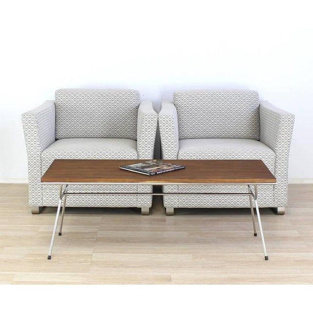 Pair of Mid-Century Modern style lounge chairs by Bernhardt.