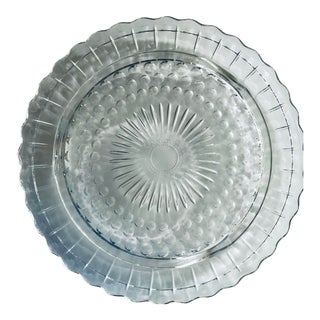 Federal Glass Footed Sandwich Tray For Sale