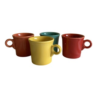 Assortment of Fiesta Ware Mugs, Set of Four For Sale
