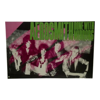 """Aerosmith """"Done With Mirrors"""" 1986 Album Poster For Sale"""