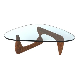 Mid-Century Modern Classic Isamu Noguchi Signed Coffee Table For Sale