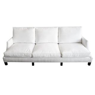 White Denim & Down Sofa For Sale