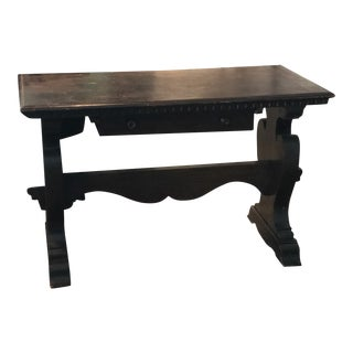 Primitive Dark Wood Antique Desk