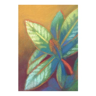 Rhododendron Vibrant Pastel Drawing For Sale