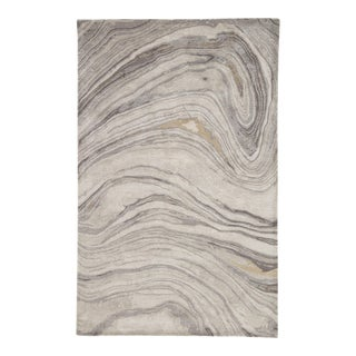 Jaipur Living Atha Handmade Abstract Gray/ Gold Area Rug - 8' X 11' For Sale