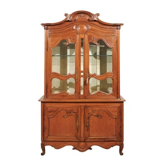 1820s Antique French Pine Deux Corps Buffet
