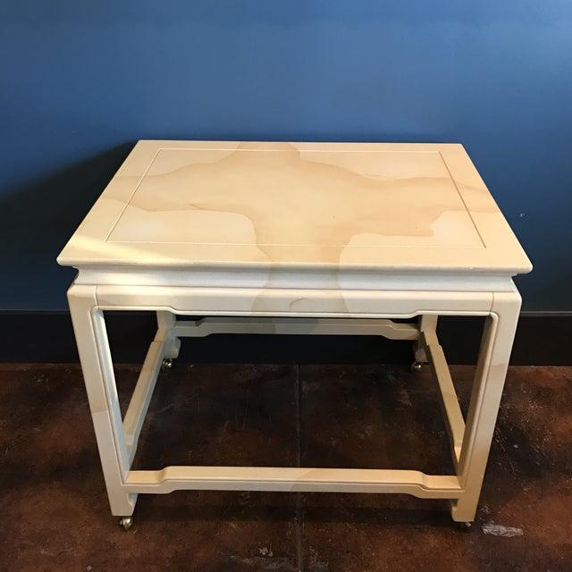 Henredon Chinoiserie Goatskin Lacquer Table - Image 3 of 11