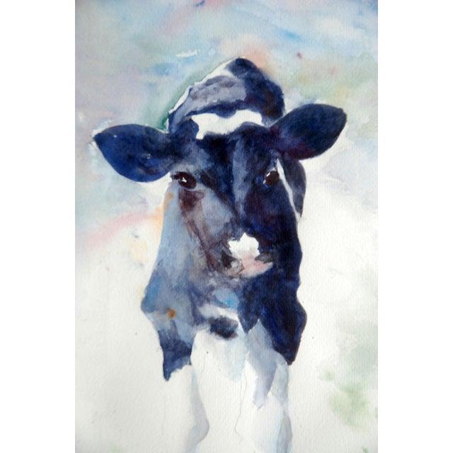 Originl Watercolor of Holstein Calf - Image 2 of 3