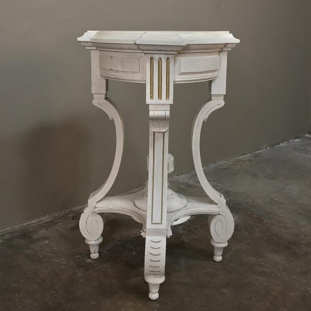 19th Century French Henri II Painted Lamp Table ~ Pedestal For Sale - Image 11 of 11