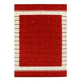 Pasargad Red Fine Persian Hand Knotted Gabbeh Design Rug 9' X 12' For Sale