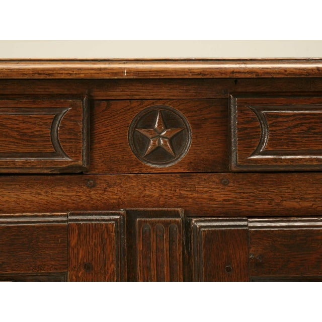 Antique French Buffet With Star Motif For Sale In Chicago - Image 6 of 10