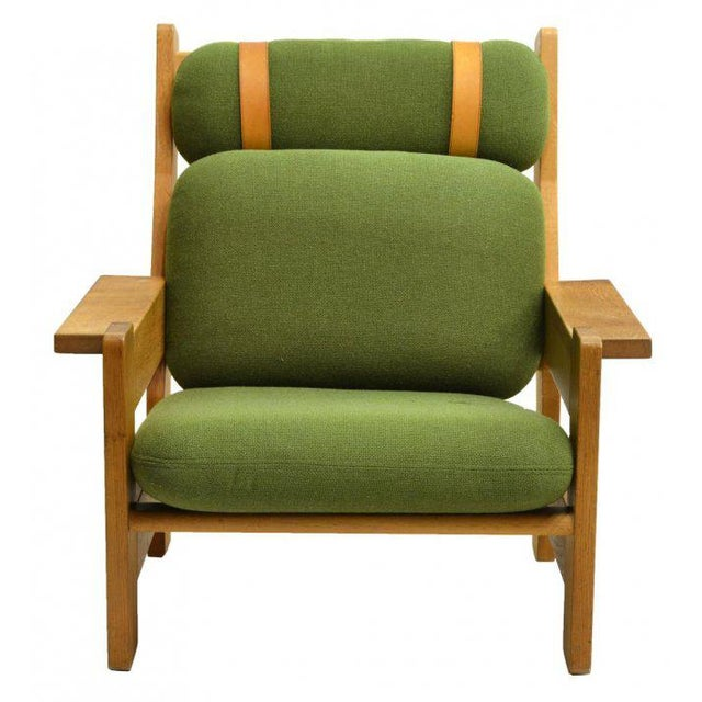 Danish Modern Beechwood Living Room 4-piece Set with Leather Straps, Circa 1970 - Image 6 of 8