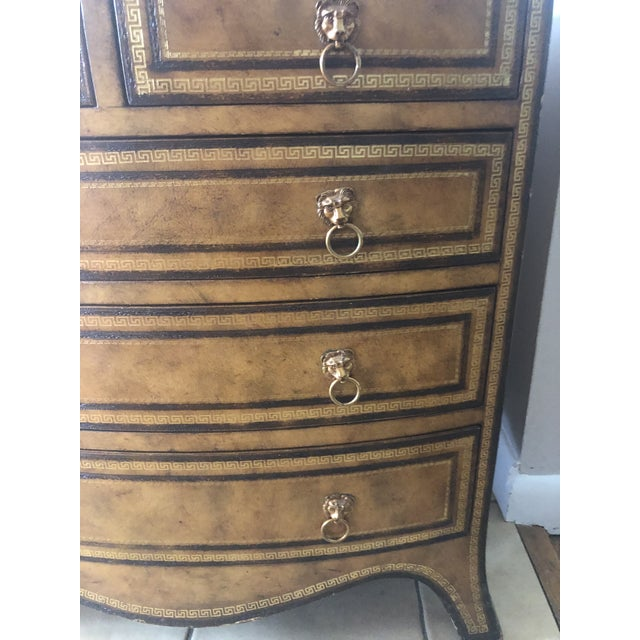 2000 - 2009 Maitland-Smith Georgian Style Leather Covered Chest For Sale - Image 5 of 13