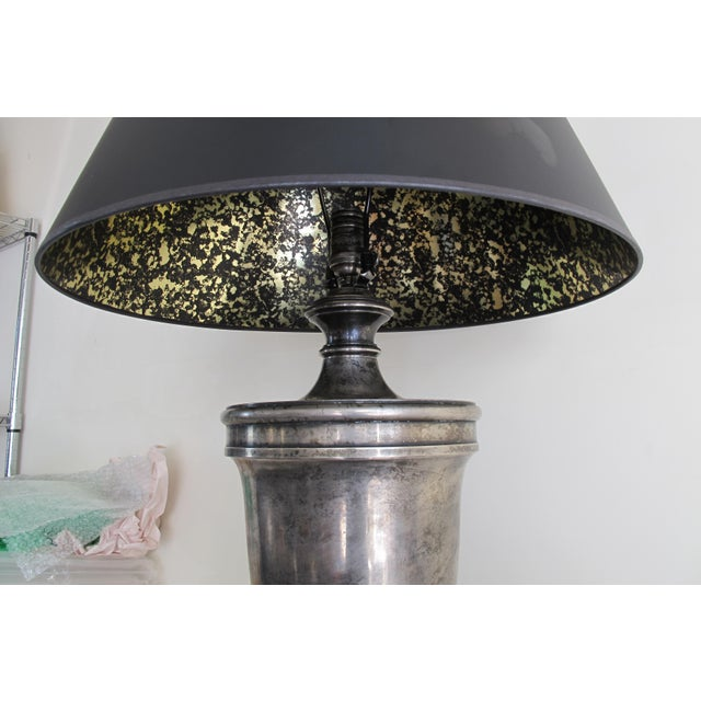 Visual Comfort Classical Urn Form Sheffield Nickel Large Table Lamp - Image 6 of 11