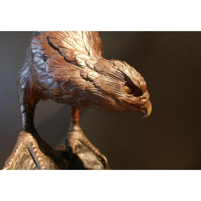 A Japanese Bronze Sculpture of an Osprey For Sale - Image 4 of 6