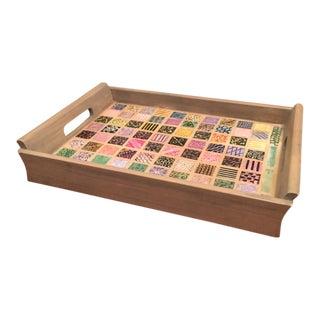 Lisbeth Hamlin Handmade Mosaic Tile Tray For Sale