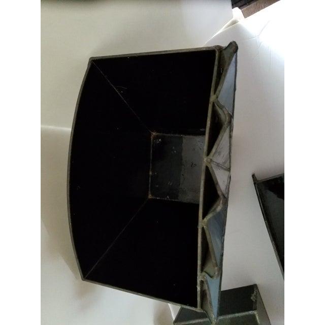 French Art Deco Black Glass Waste Basket - Set 3 For Sale - Image 11 of 12