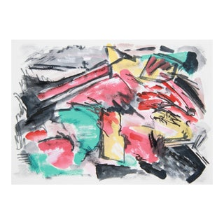 Abstract Painting of Two '57 Chevys by Cleo
