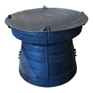 Metal Tribal Drum Table