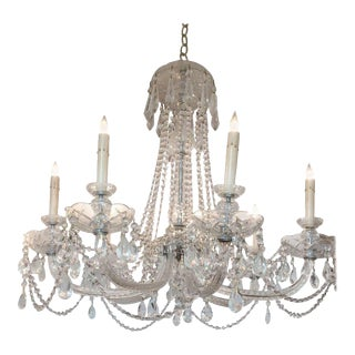 Monumental Eight-Arm French Crystal Chandelier
