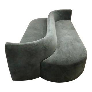 Henredon Modern Risodon Slate Velvet Chaise Sofa For Sale