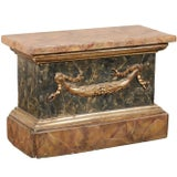 Image of 18th Century Italian Marbleized Pedestal For Sale
