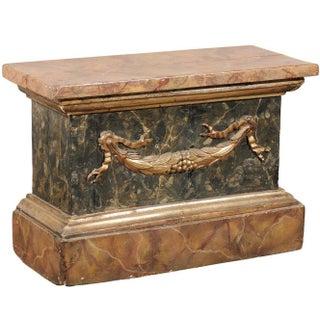 18th Century Italian Marbleized Pedestal For Sale