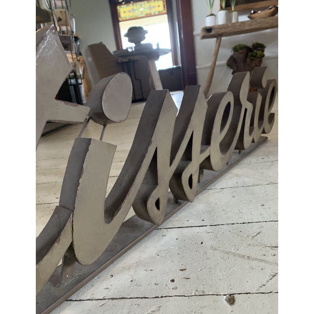 Antique 1930s Metal Patisserie Sign For Sale - Image 4 of 5