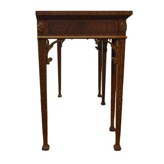 Maitland Smith Solid Mahogany Traditional Georgian 59 Accent Entryway Console Table 3431 056 Chairish - Solid Mahogany Wood Entry Wall Console Sofa Table
