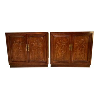 1980s Chinoiserie Henredon Folio 16 Chests - a Pair For Sale