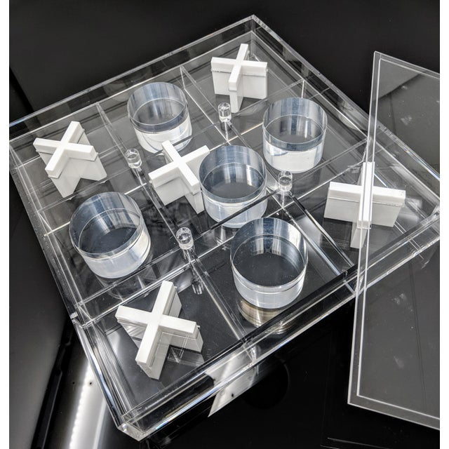 Jonathan Adler Acrylic Tic-Tac-Toe Game Board For Sale - Image 4 of 10