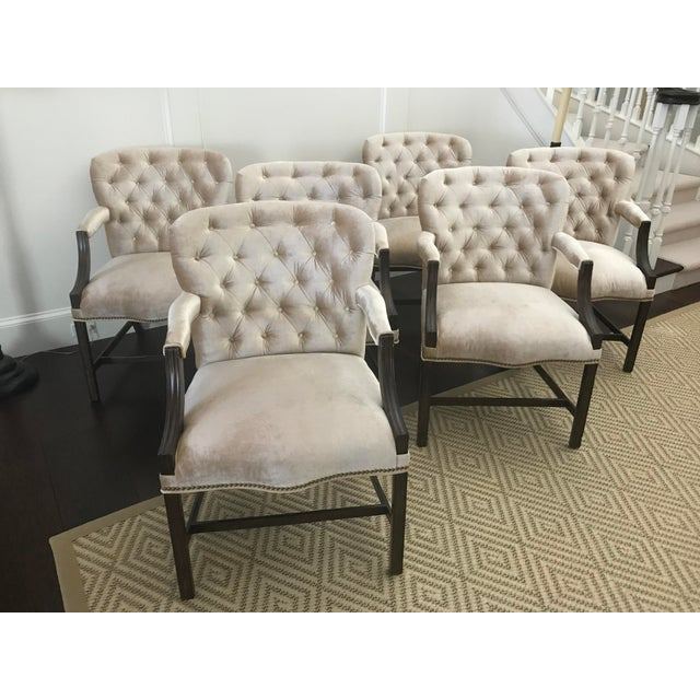 Rose Tarlow Melrose House Chippendale Dining Arm Chairs - Set of 6 For Sale - Image 13 of 13