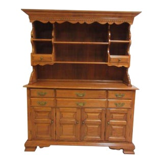 Vintage Maple Conant Ball China Cabinet Hutch Breakfront Display For Sale