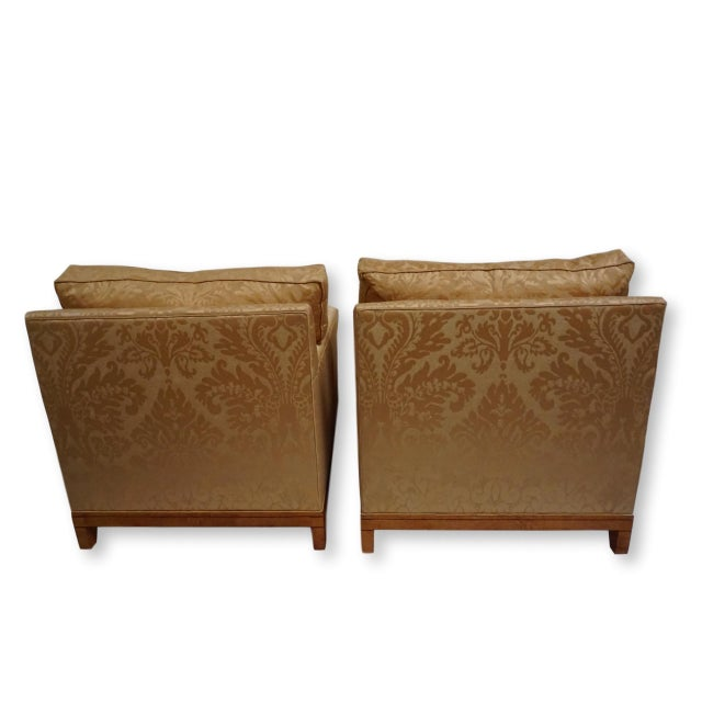 Italian Fortuny Style Club Chairs-A Pair For Sale - Image 3 of 10