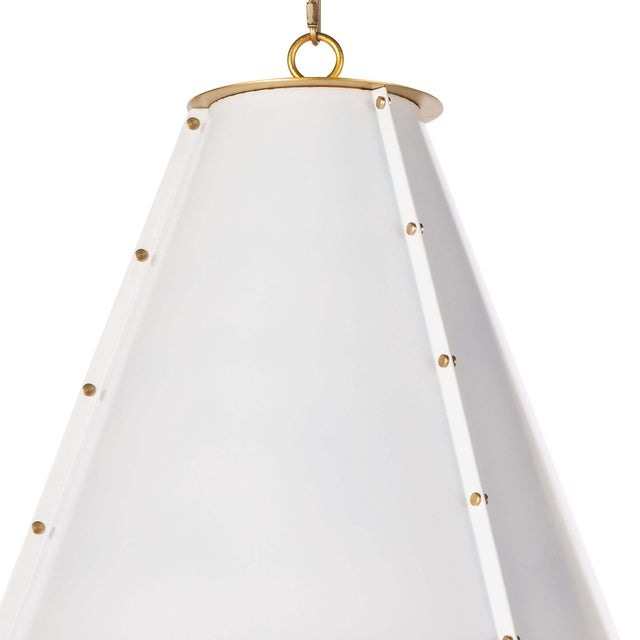 Not Yet Made - Made To Order French Maid Chandelier Small in White For Sale - Image 5 of 9