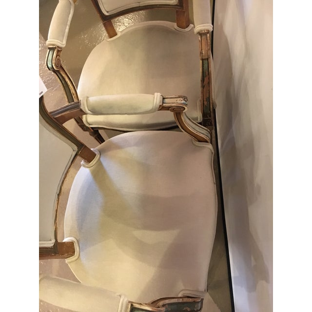 Maison Jansen Distressed Louis XVI Style Armchairs - A Pair For Sale In New York - Image 6 of 6