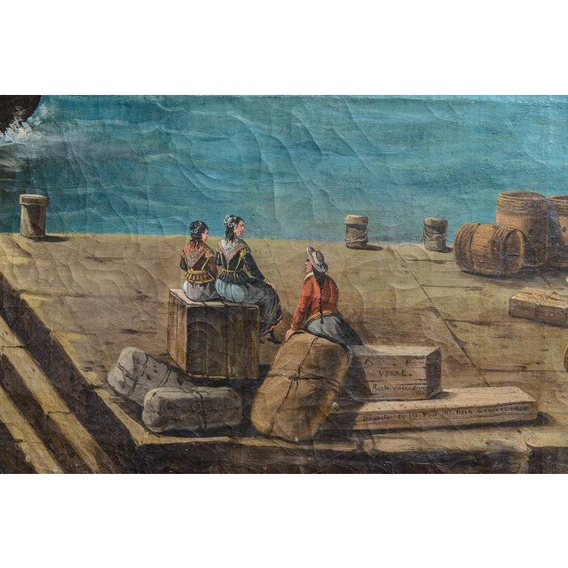 Traditional Harbour Scene Oil Painting For Sale - Image 3 of 9