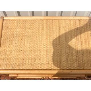 1960's Vintage Natural Woven Bamboo Rattan Bar Cart Preview