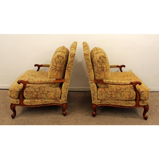 Ethan Allen French Country Lounge Chairs - A Pair - Image 7 of 11
