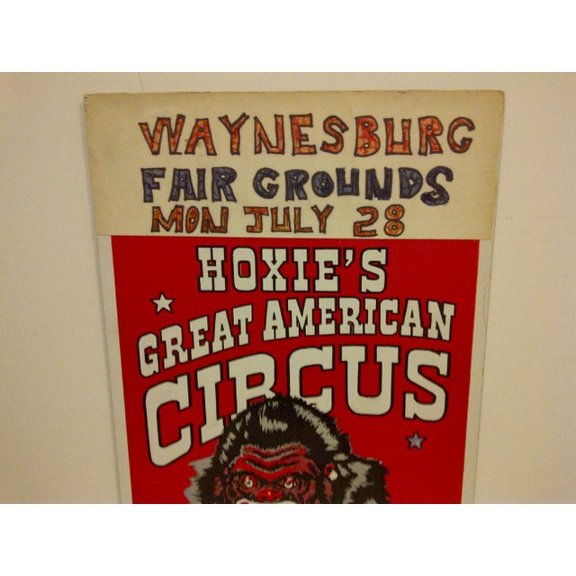 """Carnival 1960 Vintage Circus Poster """"Kongo - Largest Gorilla on Tour"""" For Sale - Image 3 of 5"""