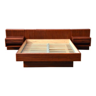Danish Rosewood Queen Platform Bed For Sale