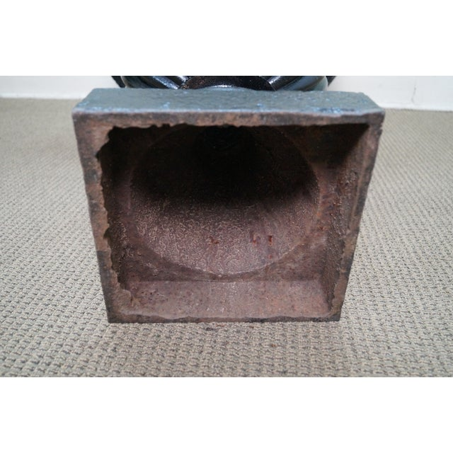 Classic French Style Black Cast Iron Urns - A Pair - Image 10 of 10