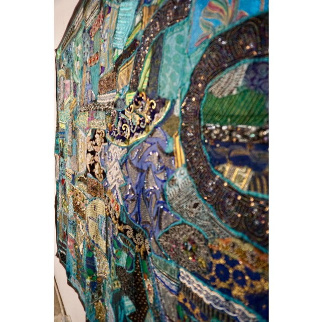 1960's Boho Patchwork Tapestry For Sale In Palm Springs - Image 6 of 8